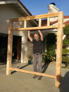 Griffith Park Teahouse replica frame and me